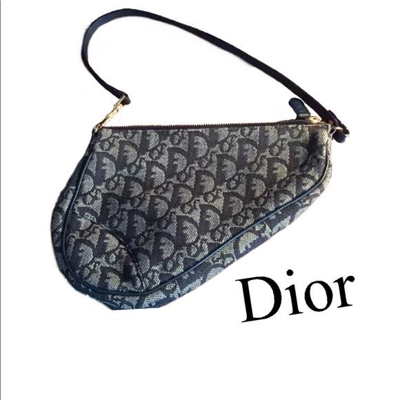 96655b2f7c0b Dior Handbags - Dior Logo Retro Mini Caddy Canvas Cloth Saddle Bag